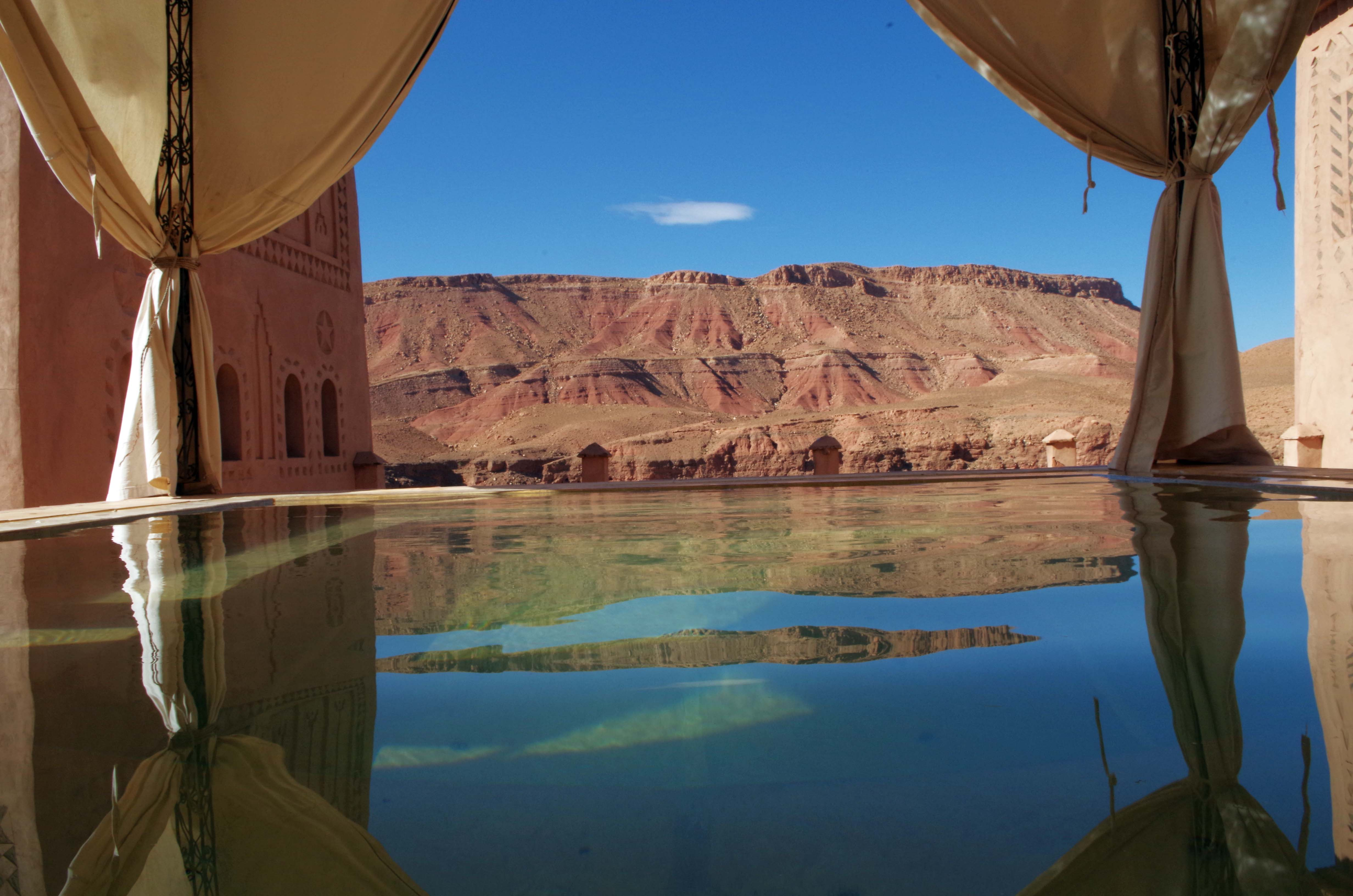 jacuzzi extérieur panoramique - kasbah titrit